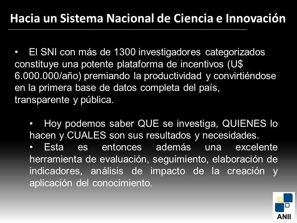 Hacia un Sistema Nacional de Ciencia e Innovación