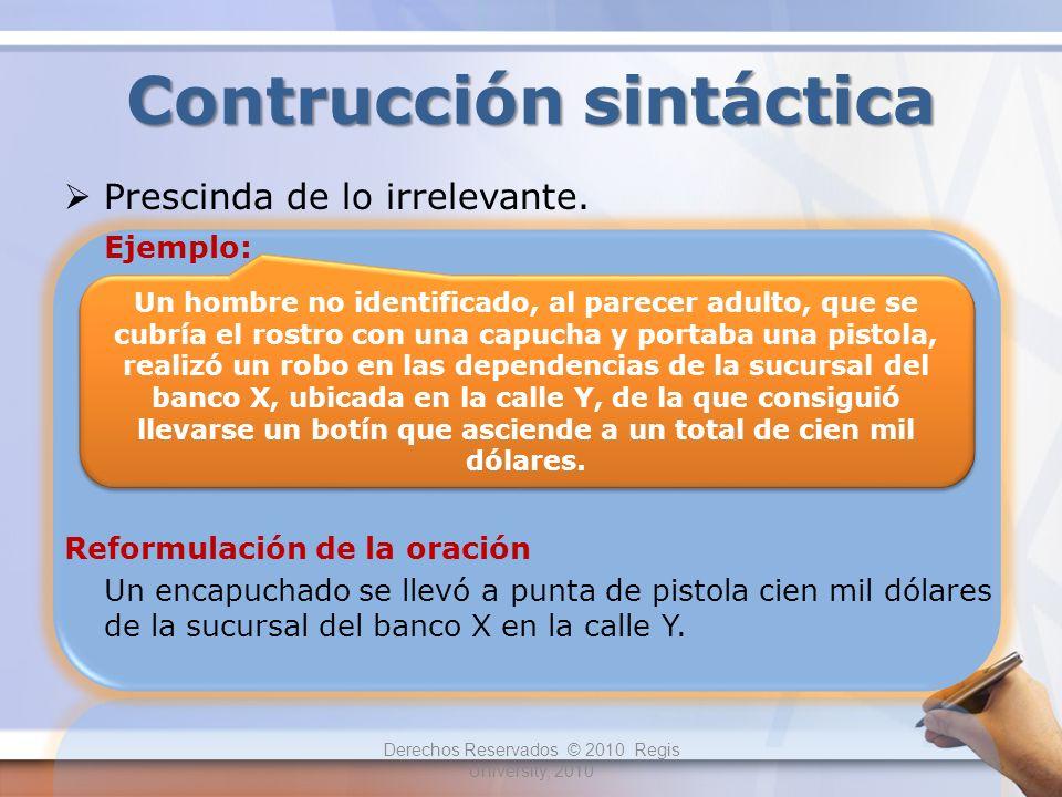 Contrucción sintáctica