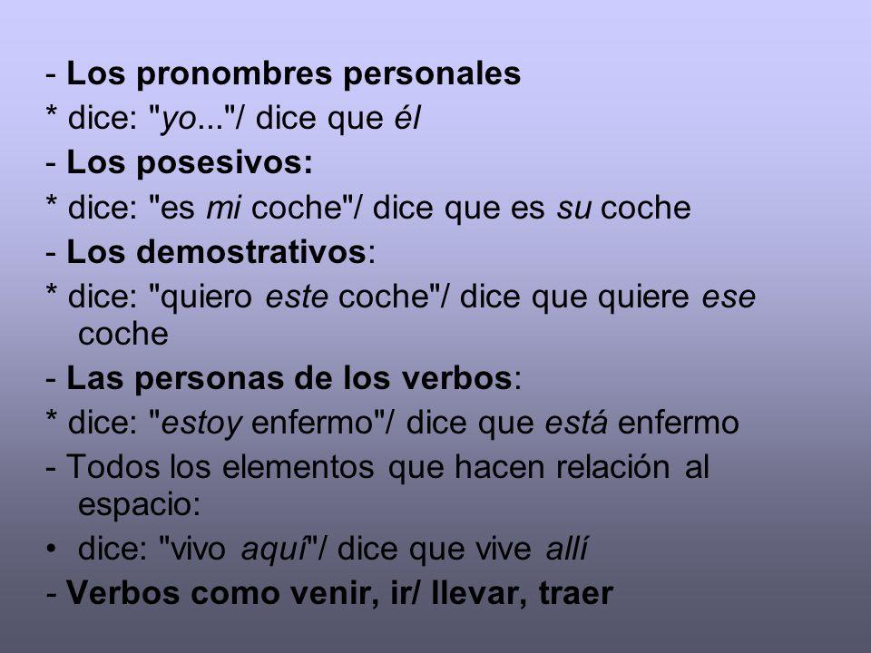 - Los pronombres personales