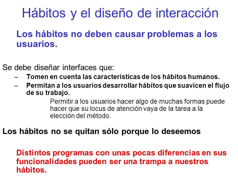 Hábitos y el diseño de interacción