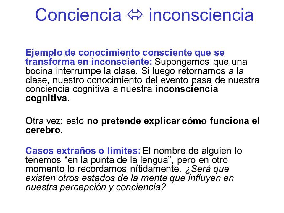 Conciencia  inconsciencia