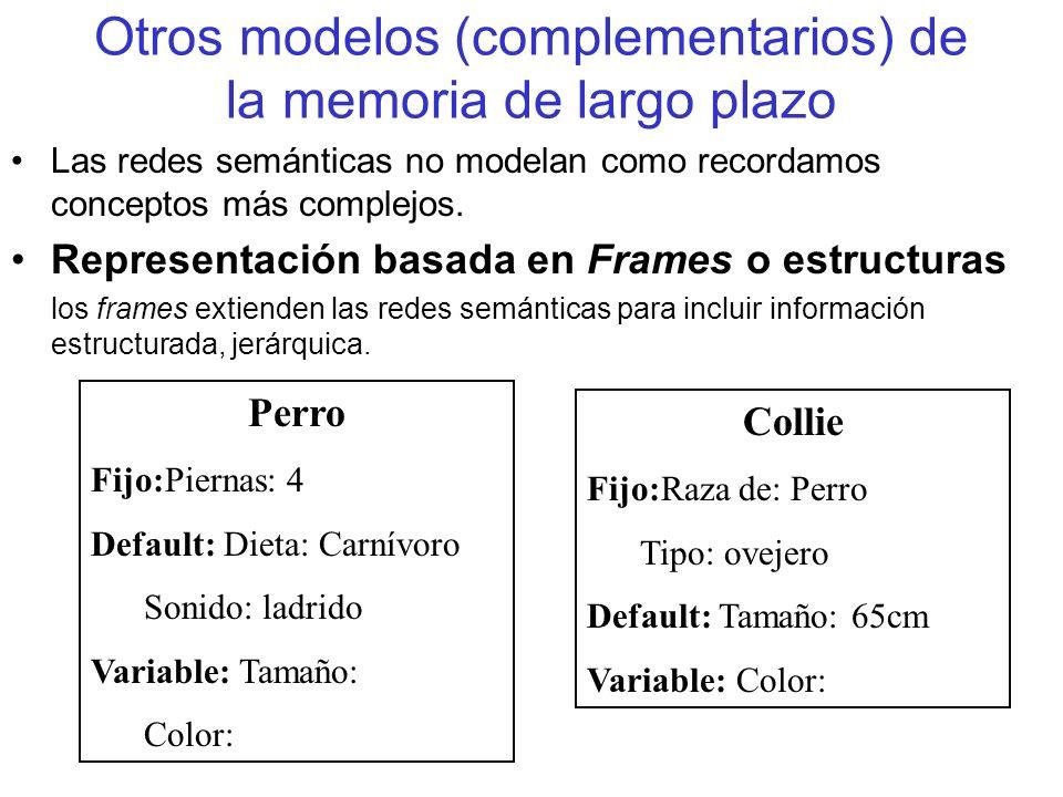 Otros modelos (complementarios) de la memoria de largo plazo