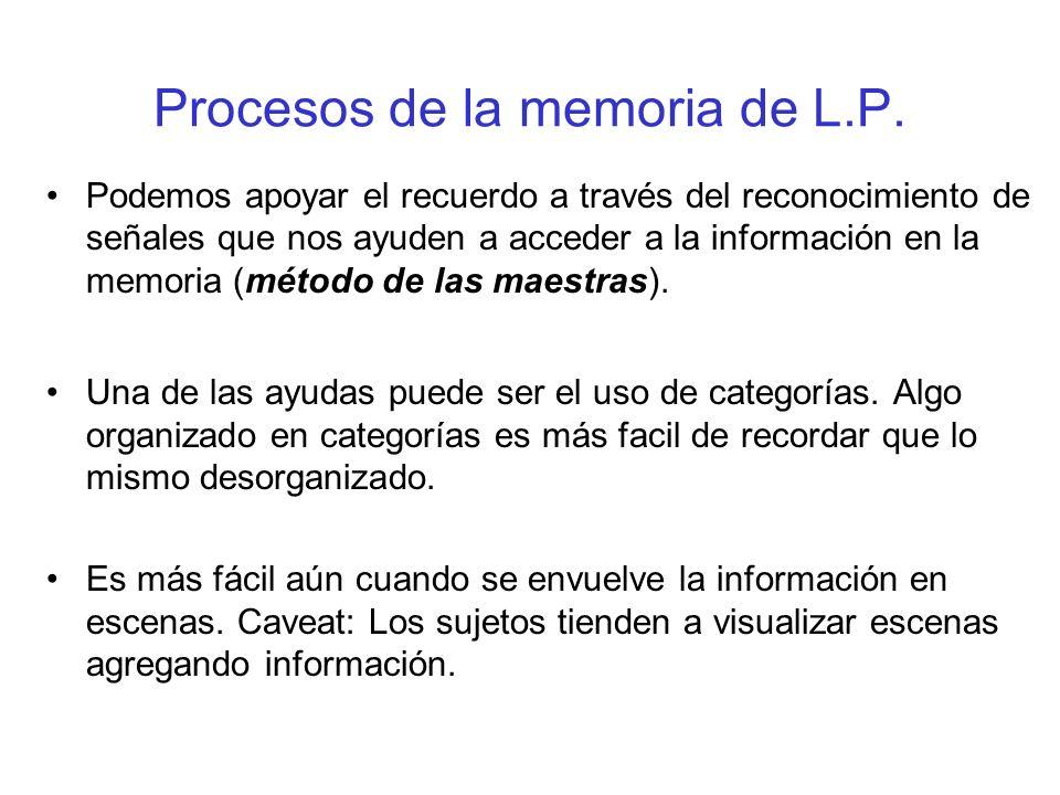 Procesos de la memoria de L.P.