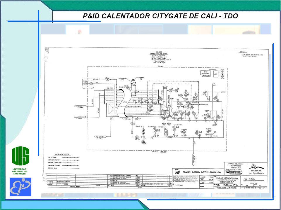 P&ID CALENTADOR CITYGATE DE CALI - TDO