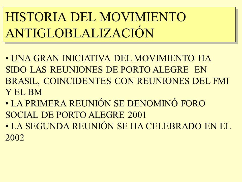 HISTORIA DEL MOVIMIENTO ANTIGLOBLALIZACIÓN