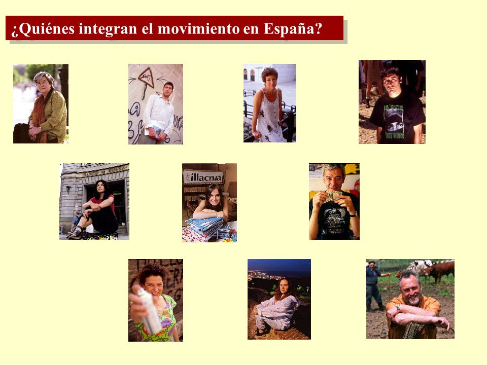¿Quiénes integran el movimiento en España