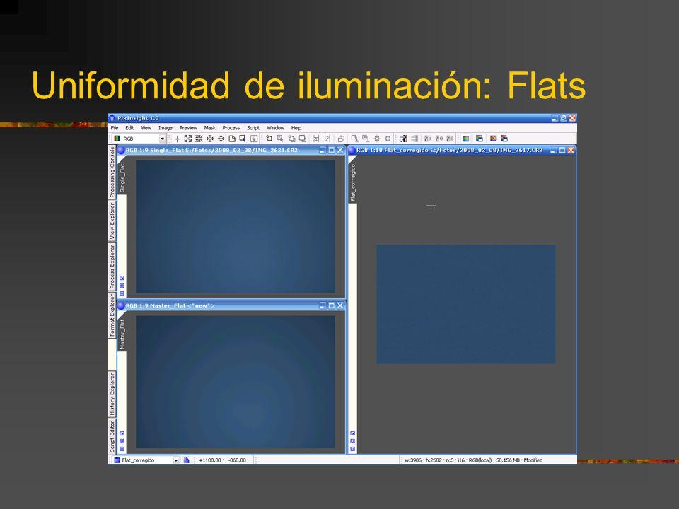 Uniformidad de iluminación: Flats