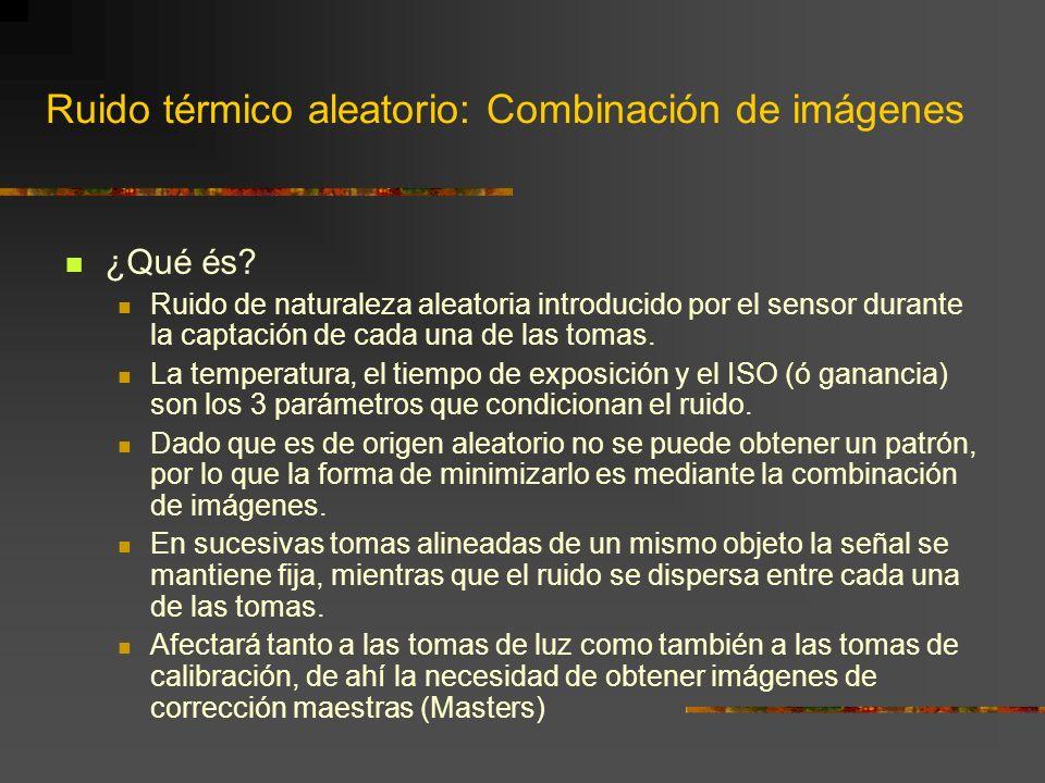 Ruido térmico aleatorio: Combinación de imágenes