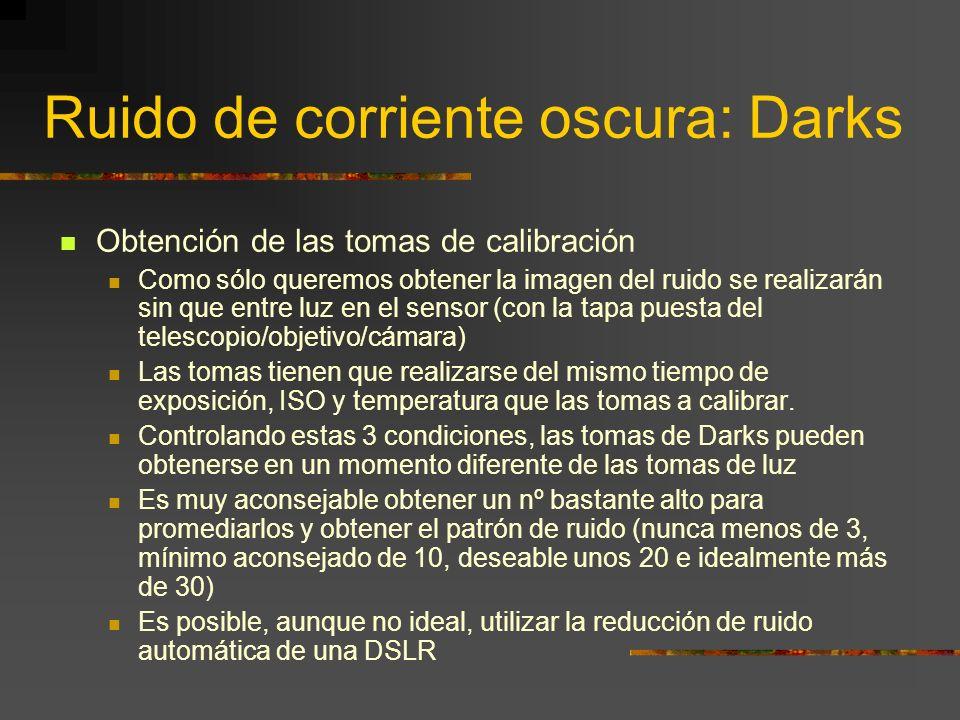 Ruido de corriente oscura: Darks
