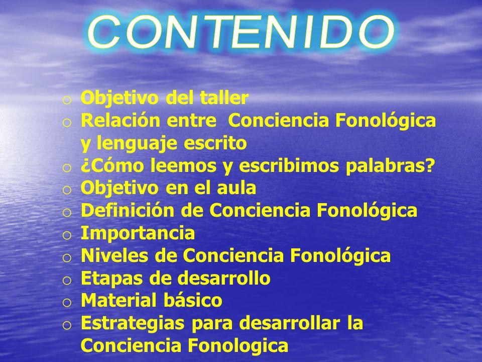 Relación entre Conciencia Fonológica y lenguaje escrito