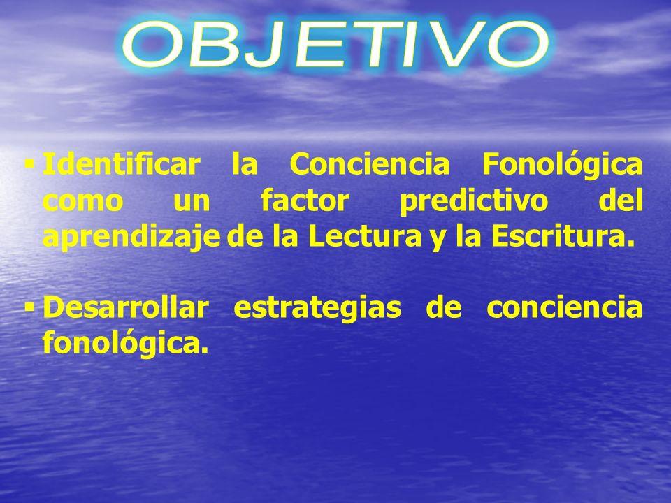 Desarrollar estrategias de conciencia fonológica.