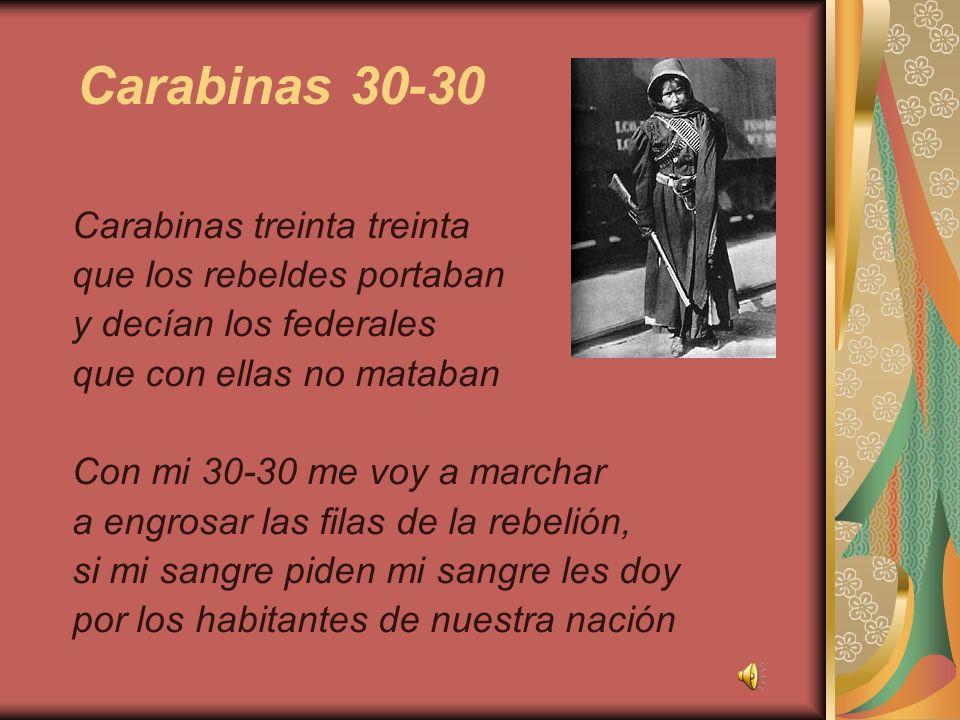 Carabinas 30-30 Carabinas treinta treinta que los rebeldes portaban