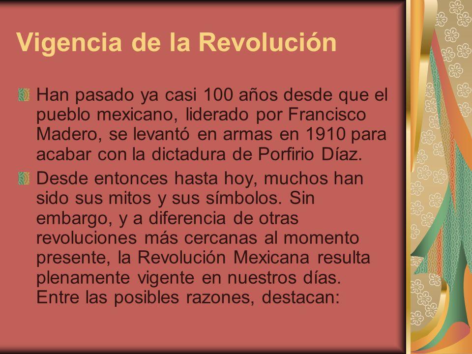 Vigencia de la Revolución