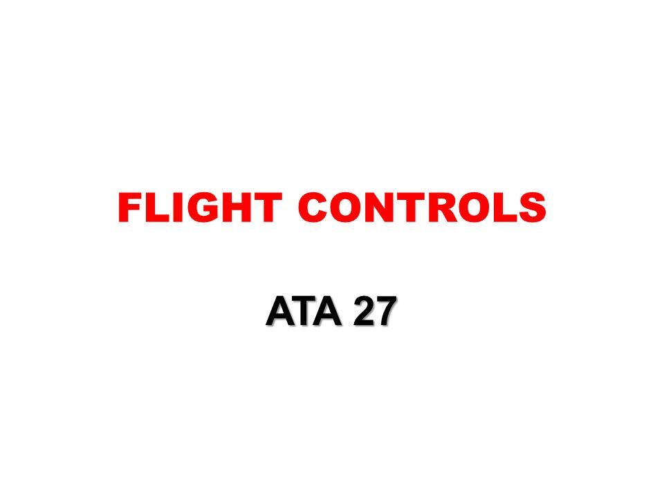 FLIGHT CONTROLS ATA 27