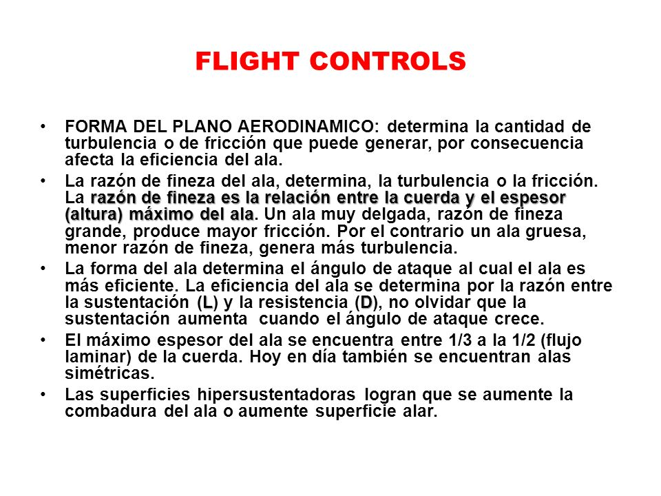 FLIGHT CONTROLS