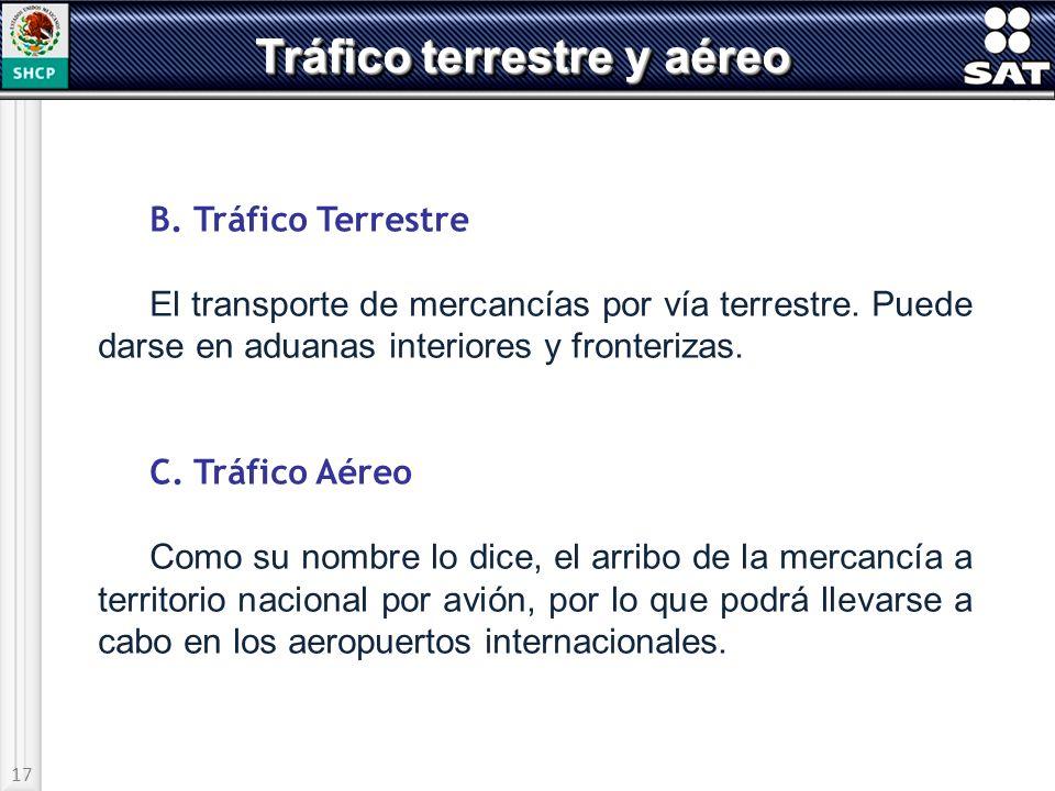Tráfico terrestre y aéreo