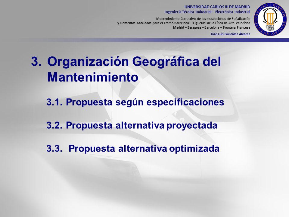 3. Organización Geográfica del Mantenimiento