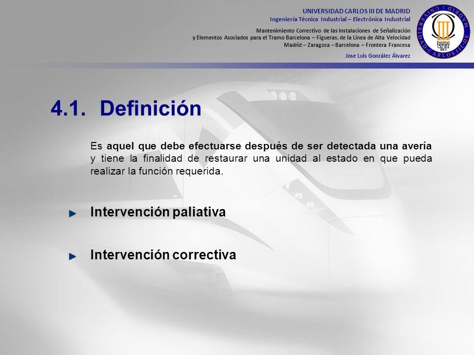 4.1. Definición Intervención paliativa Intervención correctiva
