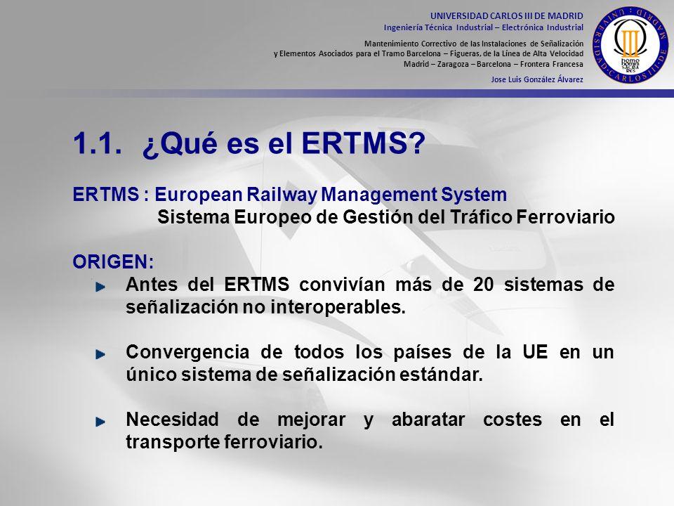 1.1. ¿Qué es el ERTMS ERTMS : European Railway Management System