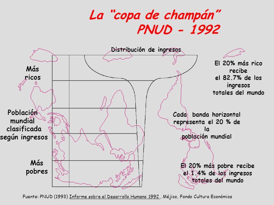 La copa de champán PNUD - 1992