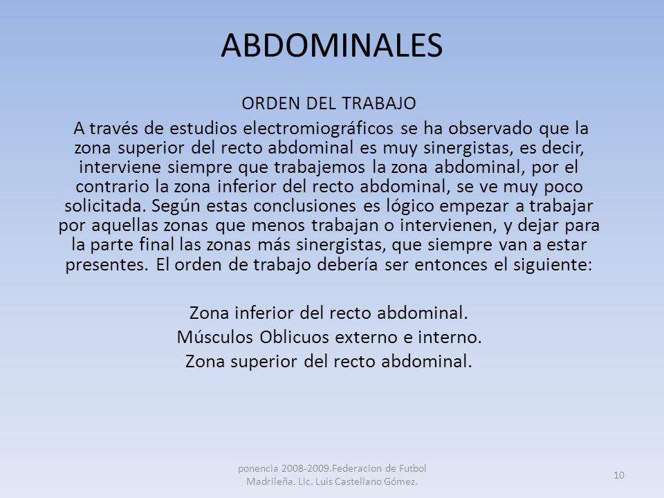 ABDOMINALES ORDEN DEL TRABAJO
