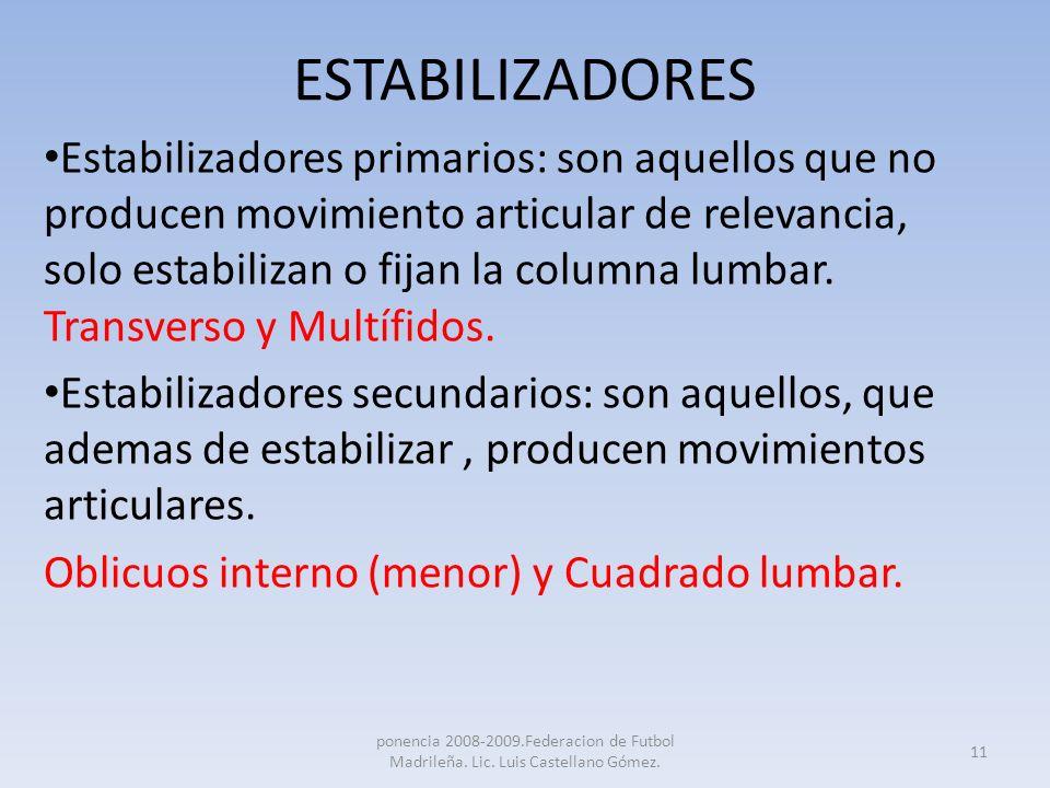 ESTABILIZADORES