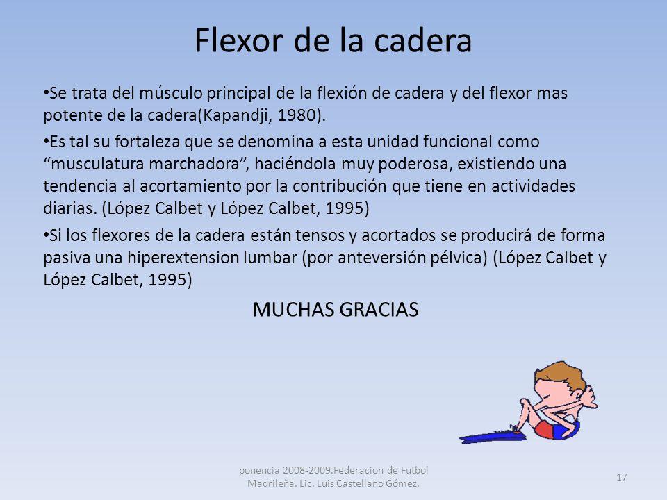 Flexor de la cadera MUCHAS GRACIAS