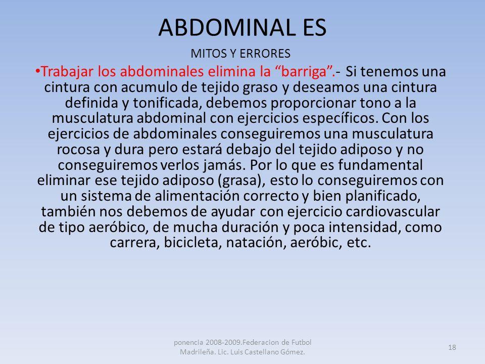 ABDOMINAL ESMITOS Y ERRORES.