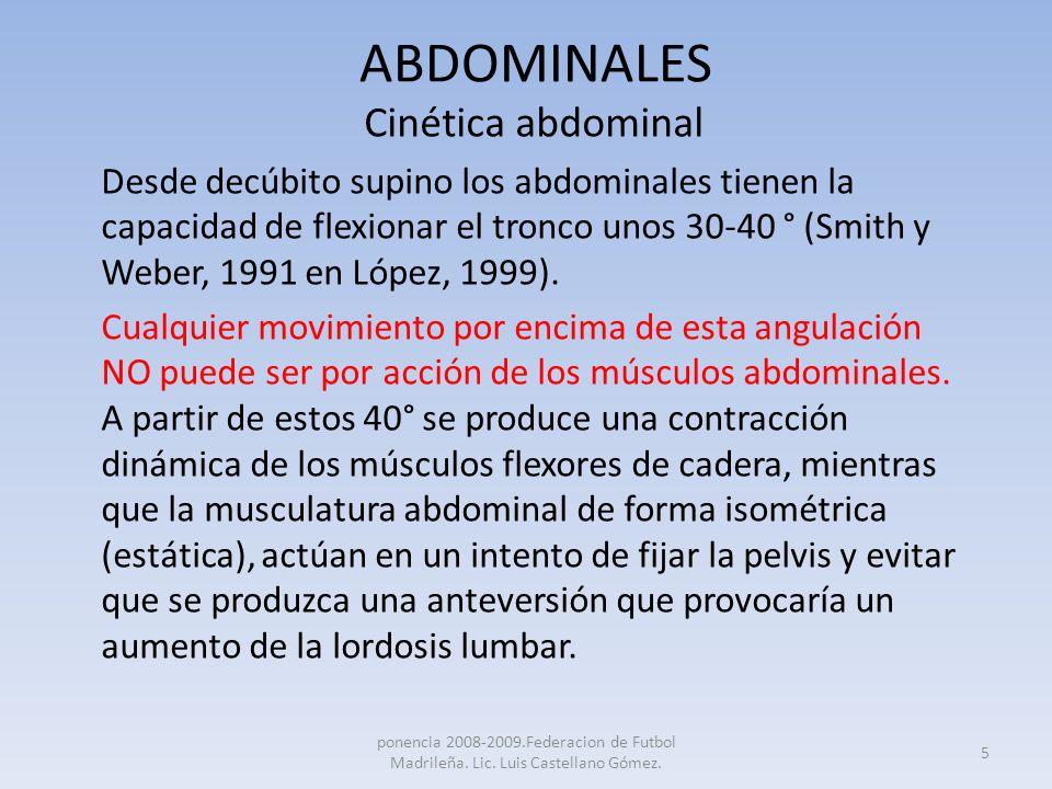ABDOMINALES Cinética abdominal