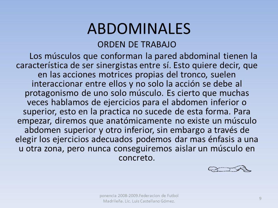 ABDOMINALES ORDEN DE TRABAJO