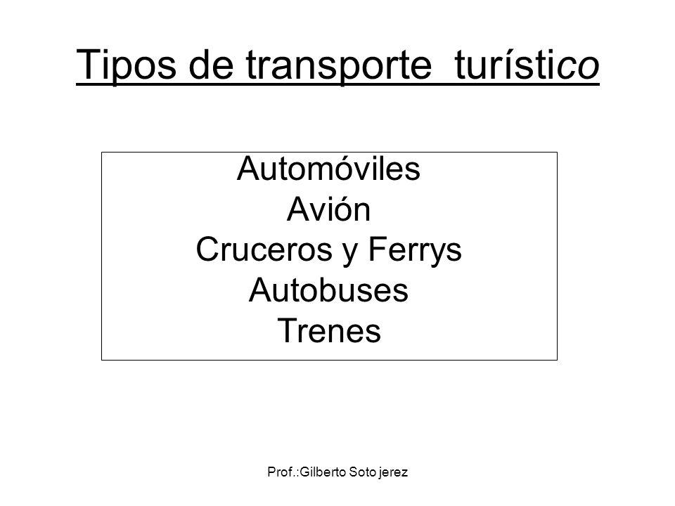 Tipos de transporte turístico