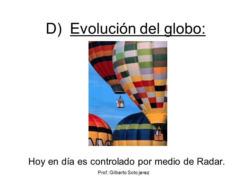 D) Evolución del globo: