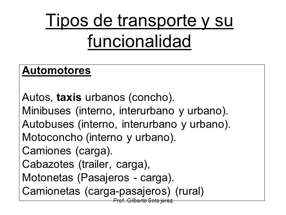 Tipos de transporte y su funcionalidad
