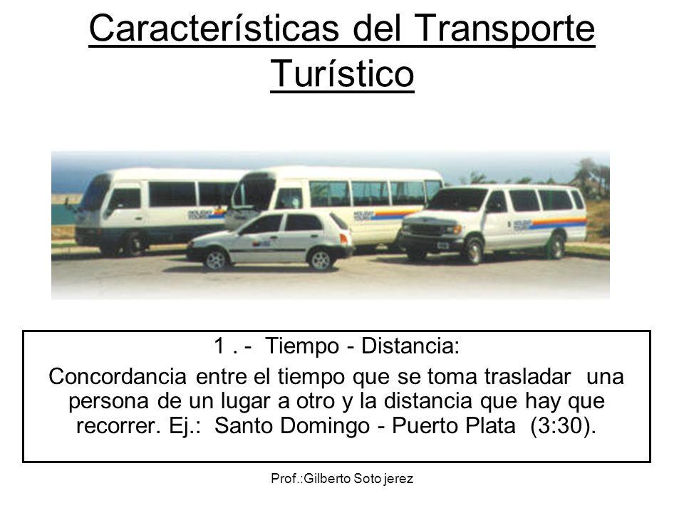Características del Transporte Turístico