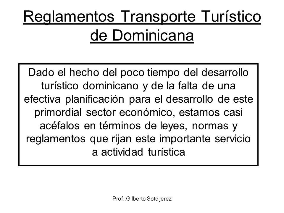 Reglamentos Transporte Turístico de Dominicana