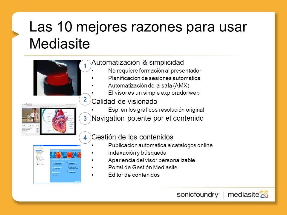 Las 10 mejores razones para usar Mediasite