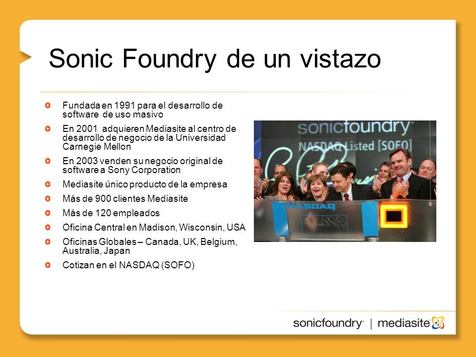 Sonic Foundry de un vistazo