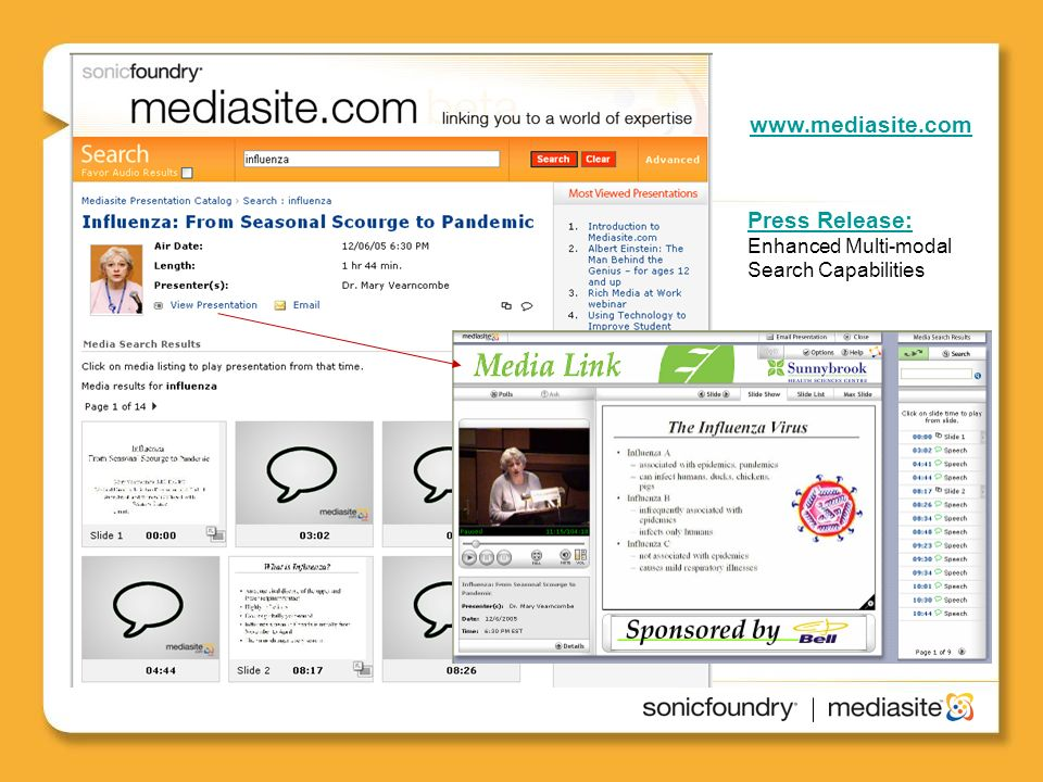 www.mediasite.com Press Release: Enhanced Multi-modal Search Capabilities