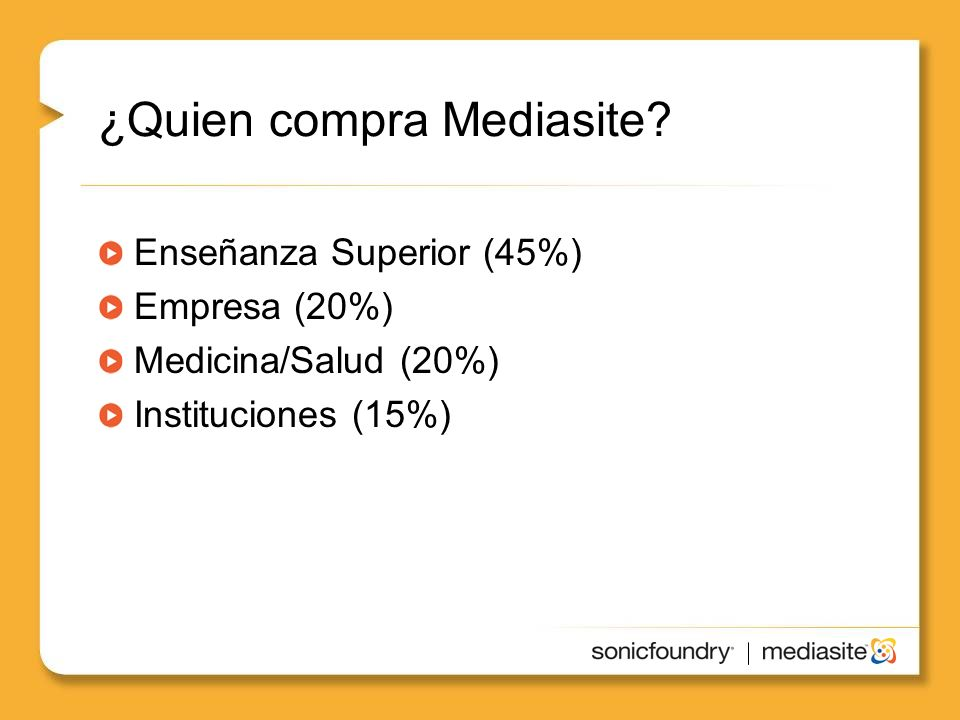 ¿Quien compra Mediasite