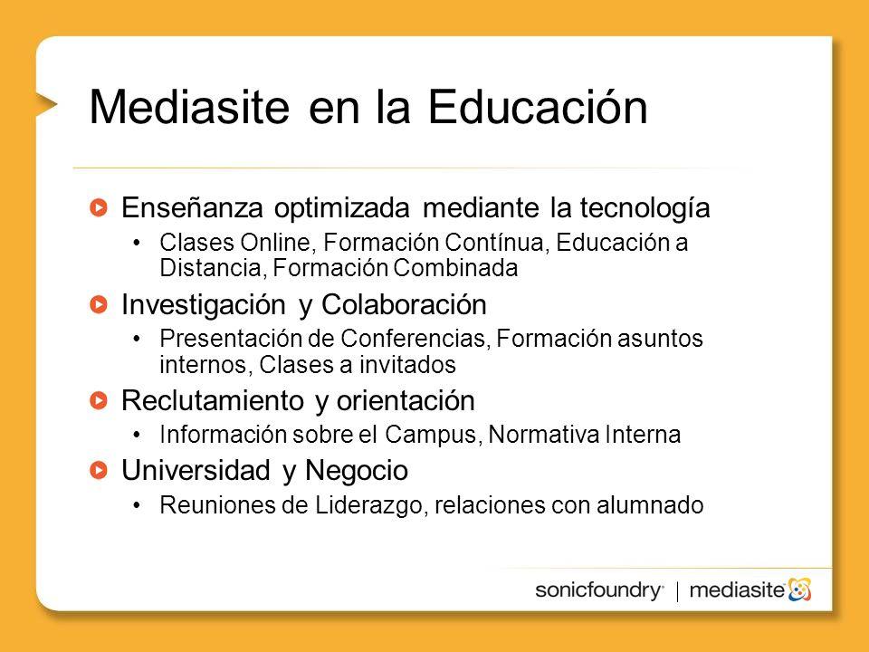 Mediasite en la Educación