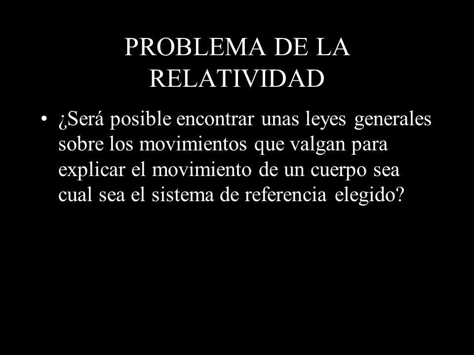 PROBLEMA DE LA RELATIVIDAD