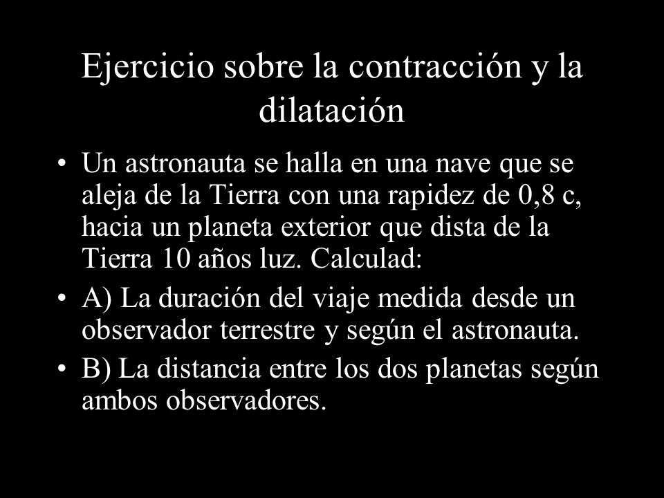 Ejercicio sobre la contracción y la dilatación