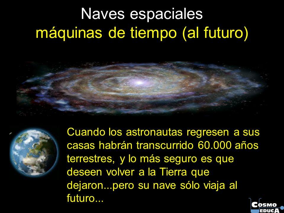 Naves espaciales máquinas de tiempo (al futuro)