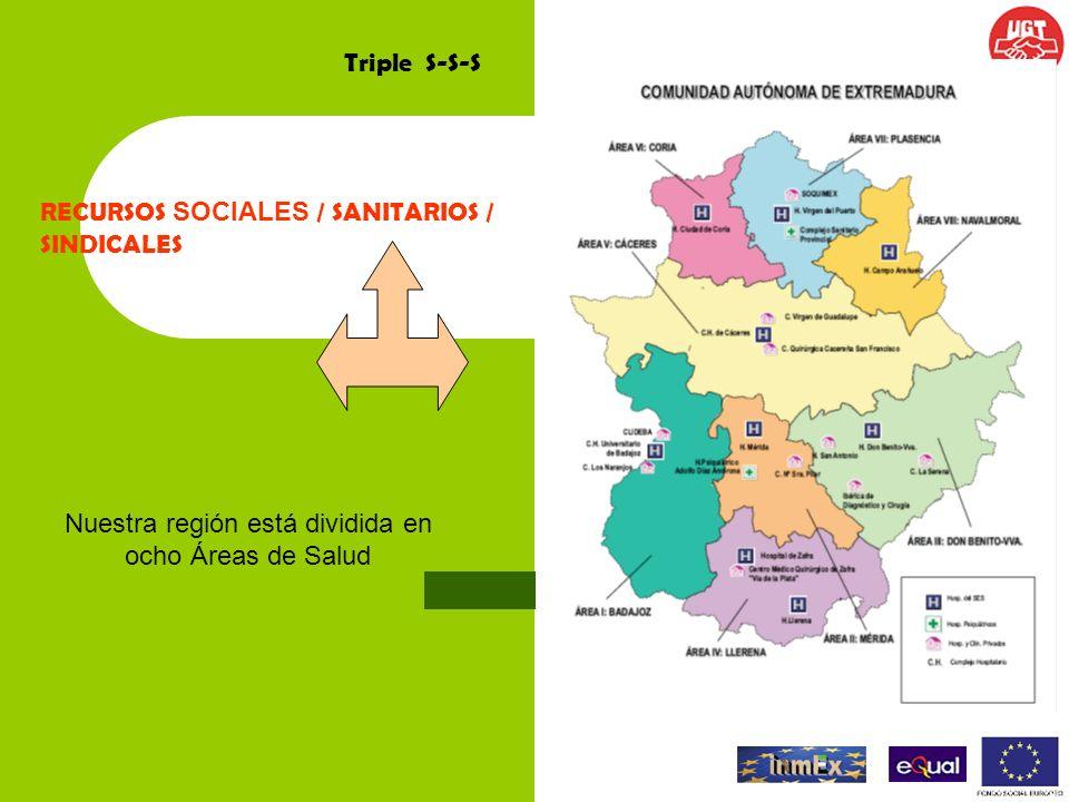 Nuestra región está dividida en ocho Áreas de Salud