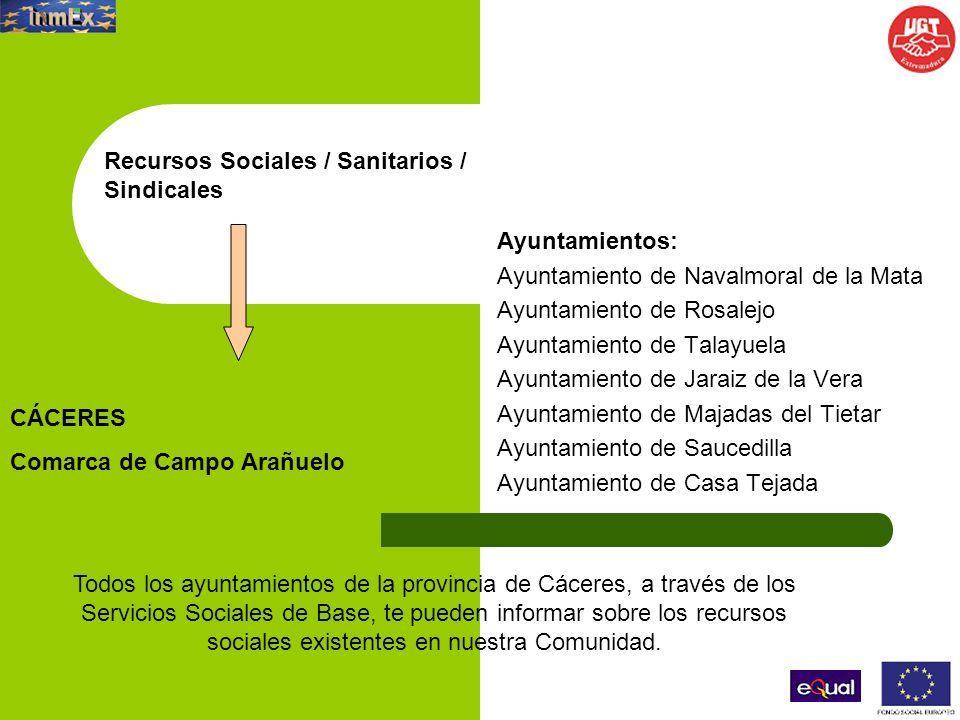 Recursos Sociales / Sanitarios / Sindicales