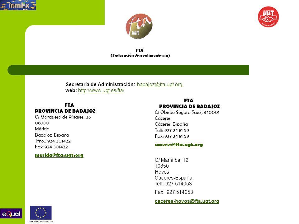 FTA (Federación Agroalimentaria)