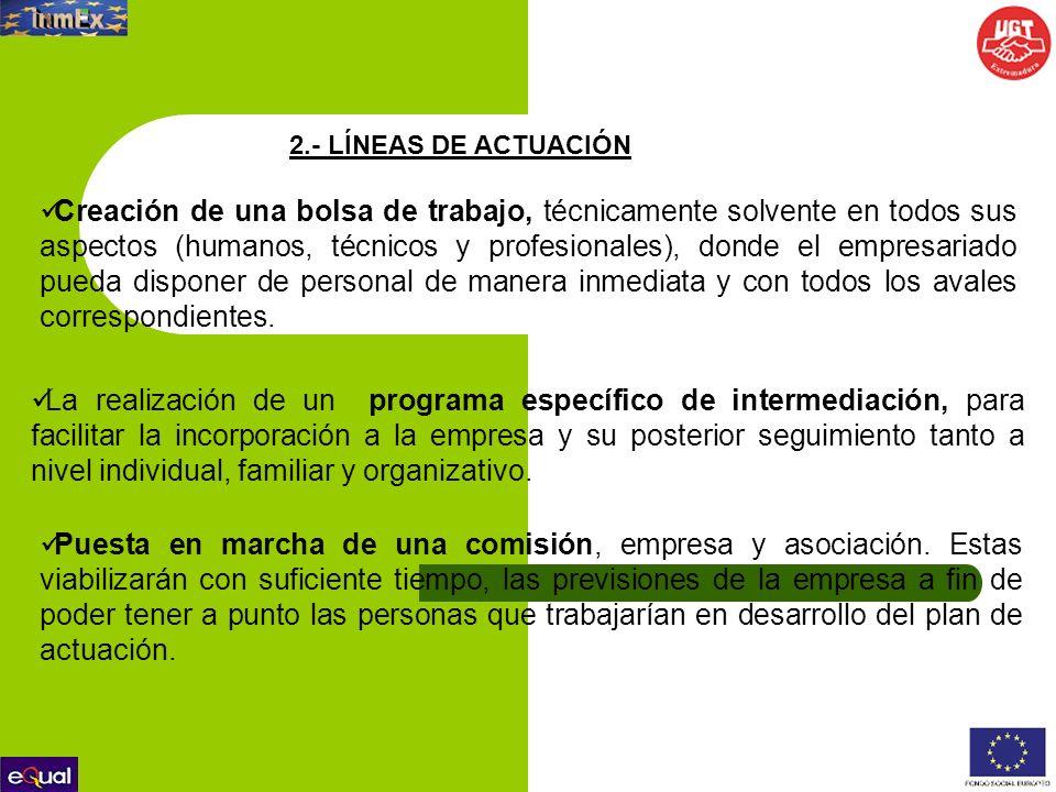 2.- LÍNEAS DE ACTUACIÓN