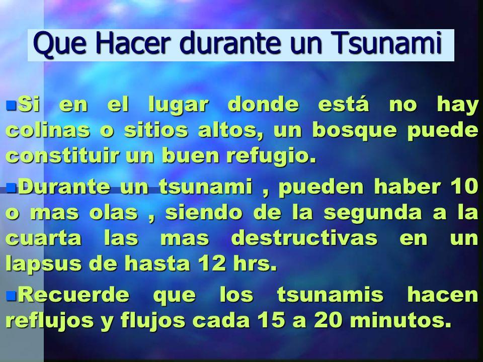 Que Hacer durante un Tsunami