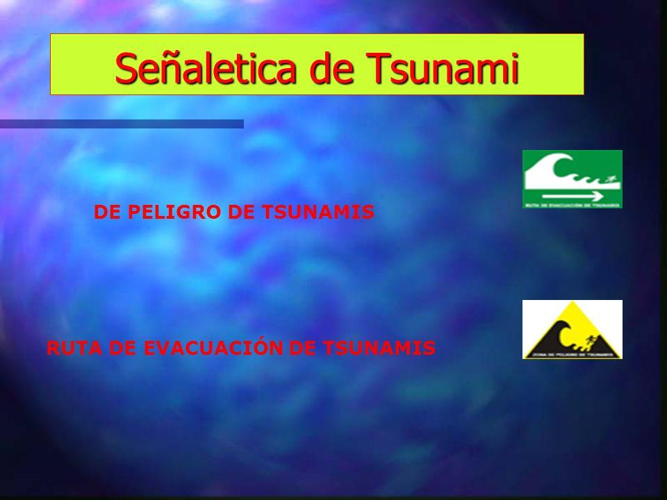 Señaletica de Tsunami DE PELIGRO DE TSUNAMIS