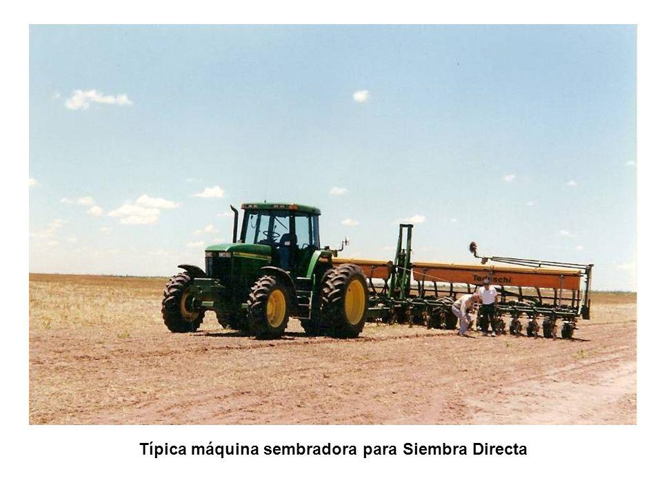 Típica máquina sembradora para Siembra Directa